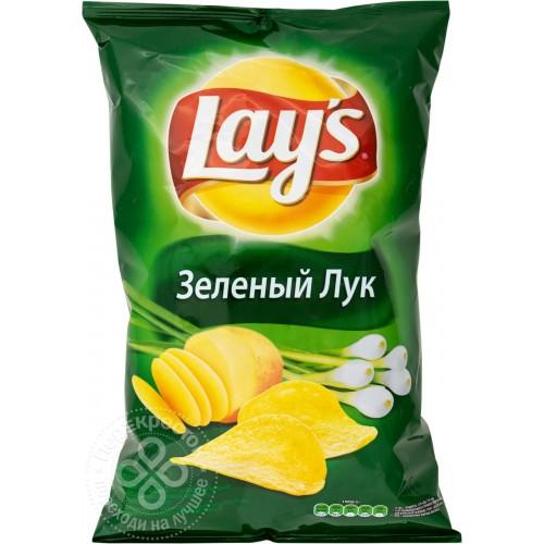ЧІПСИ ДО ПИВА ЛЕЙС ЗЕЛЕНА ЦИБУЛЯ 133 Г