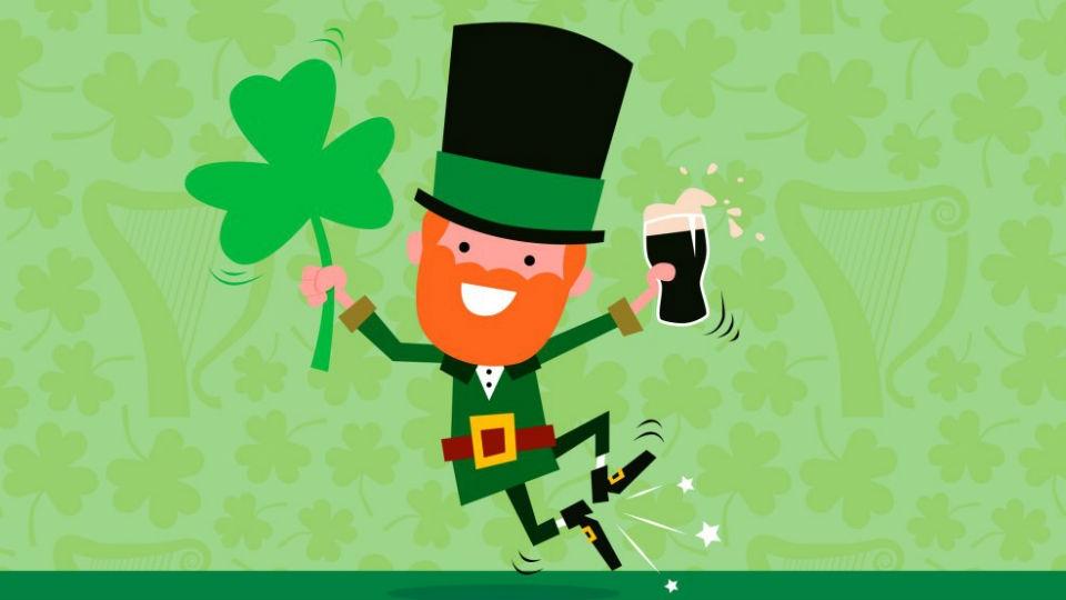 Зелёное пиво в честь праздника St. Patric!